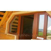 """Деревянная балконная дверь """"Евростандарт"""" фото"""
