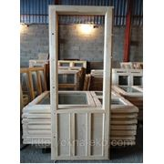 Балконная дверь из массива сосны спаренная БС 22-79 фото