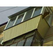 Балкон из пластика фото