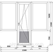 Балконный блок с двумя одностворчатыми глухими окнами 1300*1400 Rehau, однокамерное фото
