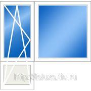 Балконный блок ПВХ дверь 2150*730 мм, окно 1420*1510 мм.
