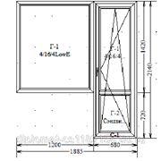 Балконный блок ПВХ (137 серия), KBE фото