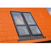 Двустворчатое мансардное Окно-балкон FGH-V P2 GaleriaU2 фото