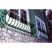 Балкон железный модель 7 фото