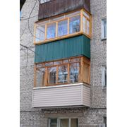 Деревянный балкон №5 фото