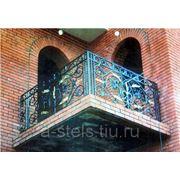 Балкон железный модель 18 фото