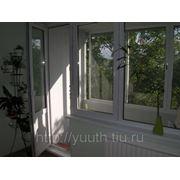 Балконный блок пластиковый 1400*2100 фото