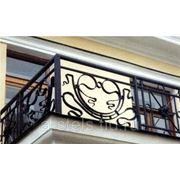 Балкон железный модель 19 фото