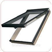 Деревянное окно эконом-модели с нижней ручкой для открывания GZL фото