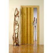 Дверь гармошка Лучана сосна. Без остекления. фото