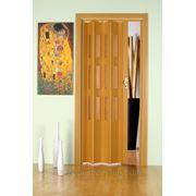Дверь гармошка Лучана бук.Остекление Морозко. фото