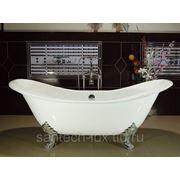 Ванна чугунная отдельностоящая NOVIAL Consuelo 1829х785х455мм в комплекте с ножками хром фото