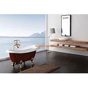 Отдельно стоящая ванна акриловая 1550*750 золото фото