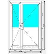 Алюминиевая дверь 1400х2100 фото