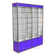 Двухсекционная витрина с раздвижными дверями 2000*400*2000 фото