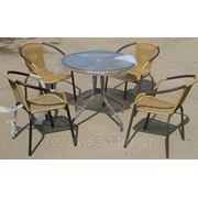"Комплект мебели ""Ротанг-4""(стол 60+4 кресла)(П) фото"