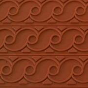 Рельефный коврик из силикона - волна фото