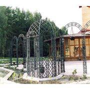 Арка садовая кованая фото
