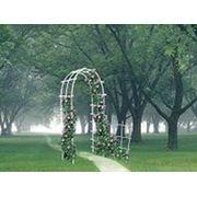 Арка на 3 дуги для садового декора Жизнь на Даче арка садовая арки садовые. фото