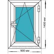 Окно пластиковое одностворчатое поворотно/откидное фото