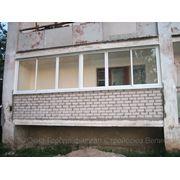 Остекление балконов и лоджий раздвижными алюминевыми рамами система «Provedal» фото