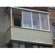 Остекление балкона и отделка сайдингом фото