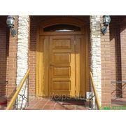 Дверь входная из массива дуба