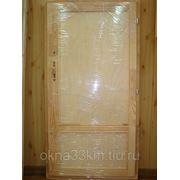Дверь деревянная нестандартная 1600х770 фото