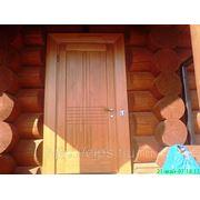 Дверь входная из массива сосны