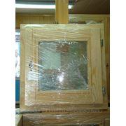 Деревянный стеклопакет 400х400 фото