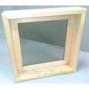 Оконный блок банный (липа) 500*500*90 фото