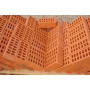 Кирпич керамический полуторный пустотелый М-125 фото