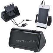 Портативная стереосистема для смартфона с подставкой фото