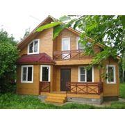 Дома из дерева рубленные из фальшбруса фото