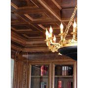 Потолки деревянные кессонные фото