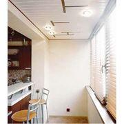 Реечный подвесной потолок фото