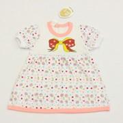 Платье детское бант 3870-к-16 кулирная гладь, размер 52-92 фото
