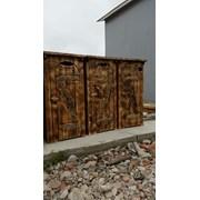 Туалет дачный деревянный фото