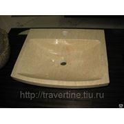 Раковина из камня (травертин, мрамор, оникс) фото