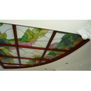 Потолок из бука фото
