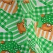 Ткань постельная Фланель 202 гр/м2 90 см Набивная Мишки на зеленом 190-4/S876 ABB фото