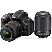 Зеркальный фотоаппарат Nikon D5200 Kit 18-55VR 55-200VR Black фото