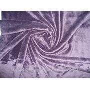 Ткань Мех искусственный баклажан фото