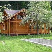 Дома деревянные: дачные, гостевые, бани, сауны, гостинницы фото