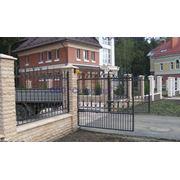 Ворота распашные, ворота металлические распашные фото