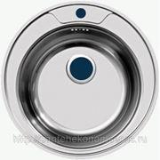 Мойка врезная круглая из нержавеющей стали для кухни F48 фото