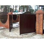 Ворота распашные автоматические фото