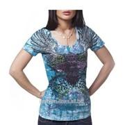 Яркая женская футболка Xzavier Flourished Spirit фото