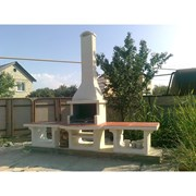 Монтаж установка печи комплекса барбекю мангала фото