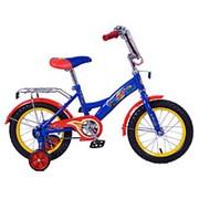 Велосипед Вспыш 14 ST14008GW (Синий+красный) фото